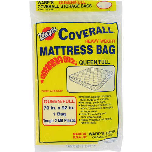 "Warps CB-70 70"" x 92"" Queen or Full Banana Bags Mattress Bag"