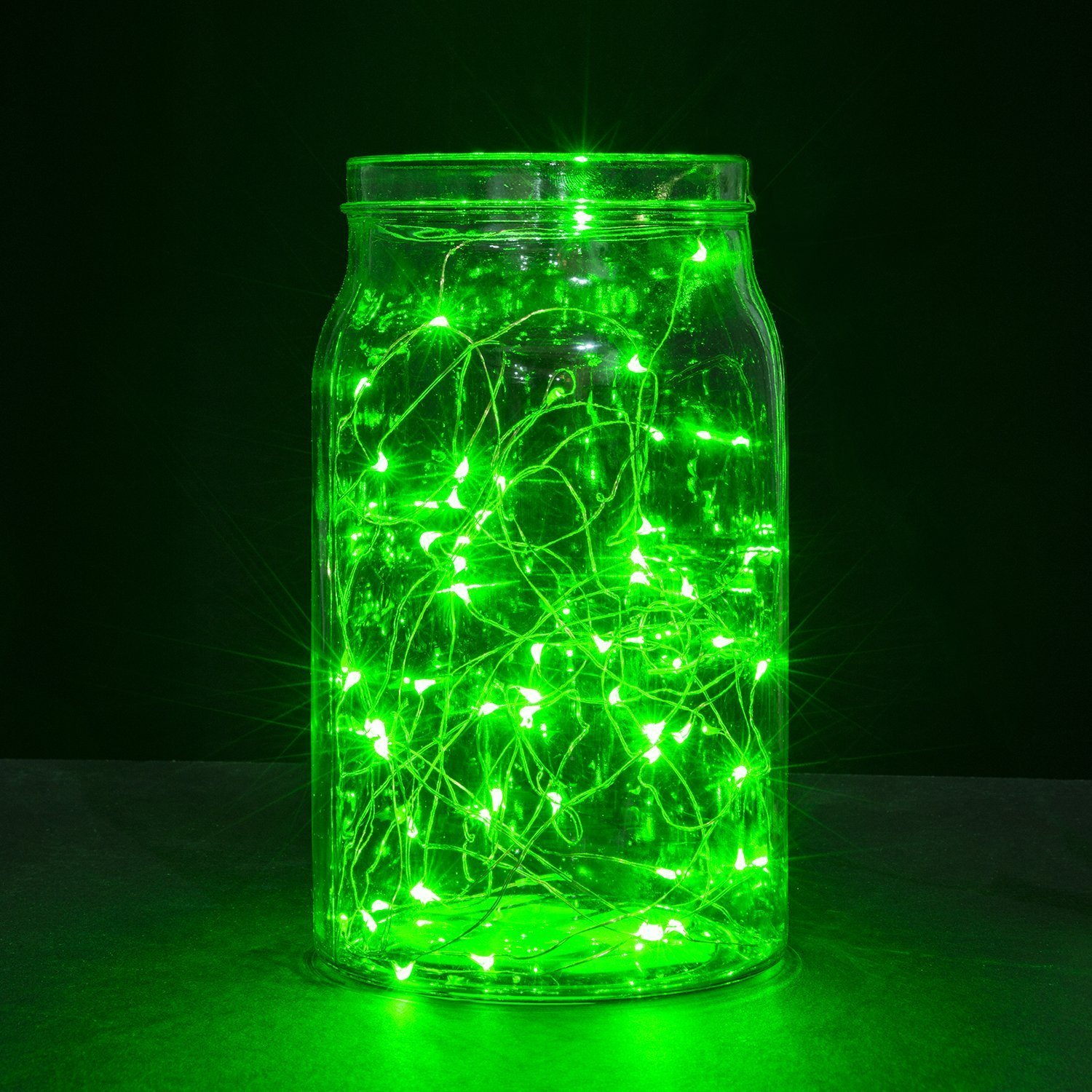 Oak Leaf 2-pack 3m LED String Lights 2 Set of Micro 30 LEDs Decorative Lights Copper Wire Fairy Starry String Lights for Home Bedroom Party Decoration Trees - Green