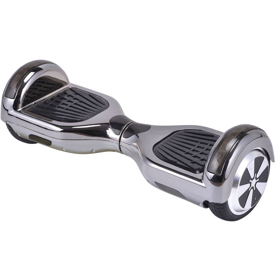 MotoTec Hoverboard Scooter 36v 6.5in Black Chrome (Bluetooth)