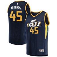 Donovan Mitchell Utah Jazz Fanatics Branded Youth Fast Break Replica Jersey Navy - Icon Edition