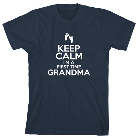 Keep Calm I'm A First Time Grandma Men's Shirt - ID: 2005 - Kelly In Spandex