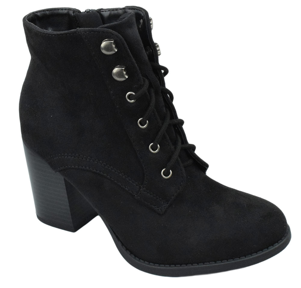 Lurk Combat Ankle Boots Soda Lace Up