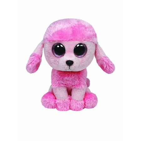 Pink Poodle Rocker - TY Beanie Boos - Princess the Pink Poodle  (Glitter Eyes) Small 6