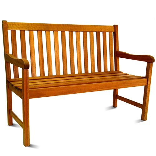 Milano Outdoor 4' FSC Eucalyptus Wood Outdoor Bench