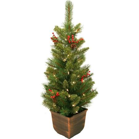 general foam plastics potted artificial christmas tree decorated 4 feet - General Foam Plastics Christmas Decorations