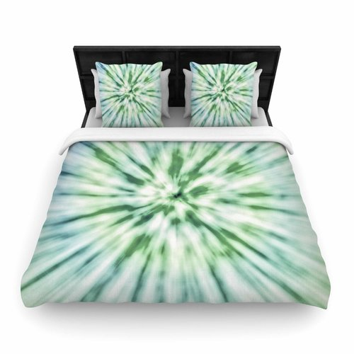 East Urban Home Green Spring Tie Dye Woven Duvet Cover