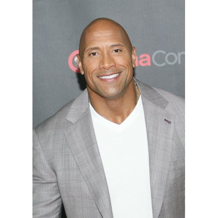 Johnson Bros Blue Willow - Dwayne Johnson In Attendance For Warner Bros Pictures The Big Picture Event At Cinemacon 2015 Stretched Canvas -  (16 x 20)