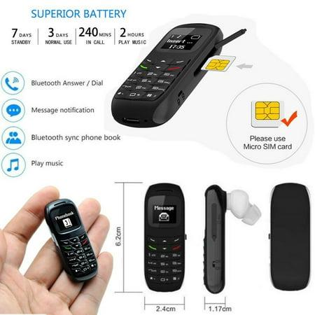 New BM70 Mini Small GSM Mobile Phone Bluetooth Dialer Headset Cellphone Earphone-Black