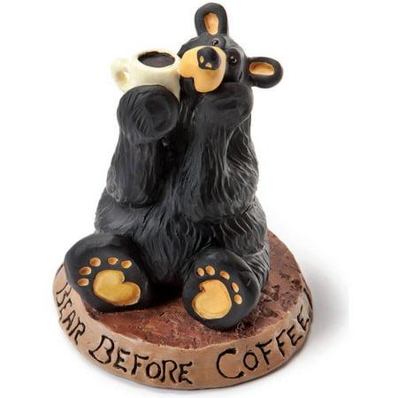 Big Sky Carvers Coffee Bear Figurine