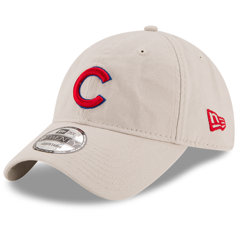 Chicago Cubs New Era Core Classic 9TWENTY Adjustable Hat - Stone - OSFA