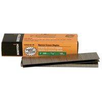 Bostitch SX50351SS-1M 18-Gauge 7/32 in. x 1 in. Narrow Crown Stainless Steel Finish Staples (1,000-Pack)