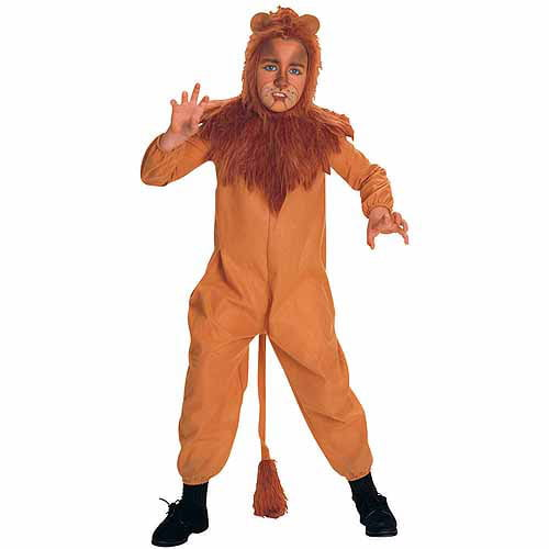 Cowardly Lion Wizard of Oz Jungle Animal Dress Up Halloween Deluxe Teen Costume