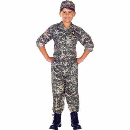 Green Army Men Costume (U.S. Army Camo Set Child Halloween)