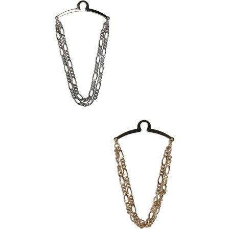 Size one size Men's Double Figaro Link Style Tie Chain