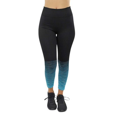 Blue And Grey Striped Leggings (Ombre Striped Workout)