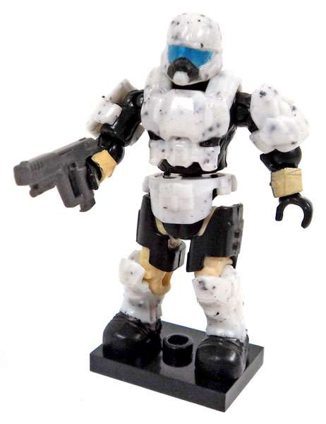 Mega Bloks Halo Charlie Series Artic Pilot W  Pistol Minifigure [White ] by