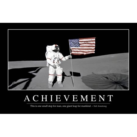 Achievement Poster (Achievement: Inspirational Quote and Motivational Poster Print Wall)
