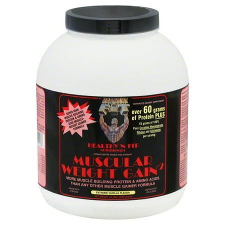 Healthy 'N Fit Muscular Weight Gain 2 - Vanilla - 4.4