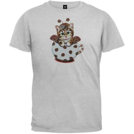 Cup Kitty Ladybug Youth T-Shirt - Large(14/16)