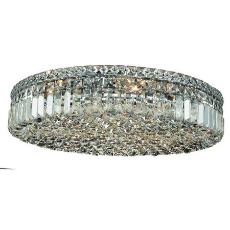 "Elegant Lighting Maxime 24"" 9 Light Elements Crystal Flush Mount - image 1 of 1"