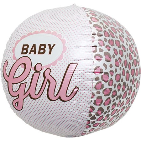 Baby Girl Balloons (Baby Girl 17 inch Sphere Shaped Foil Balloon (1)
