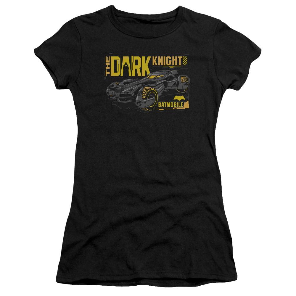 Batman V Superman/Mobile Dark Knight   S/S Junior Sheer   Black      Bvs201