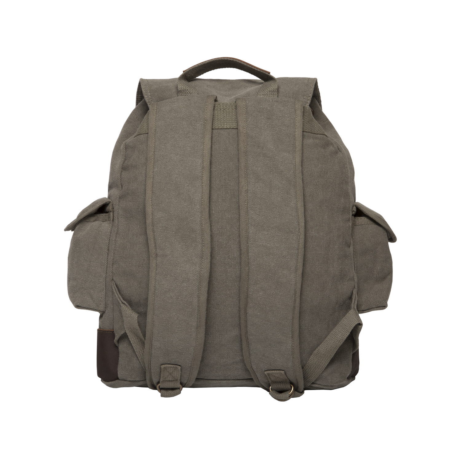 bf7900deae79 Jeep An American Tradition Vintage Canvas Rucksack Backpack with Leather  Straps