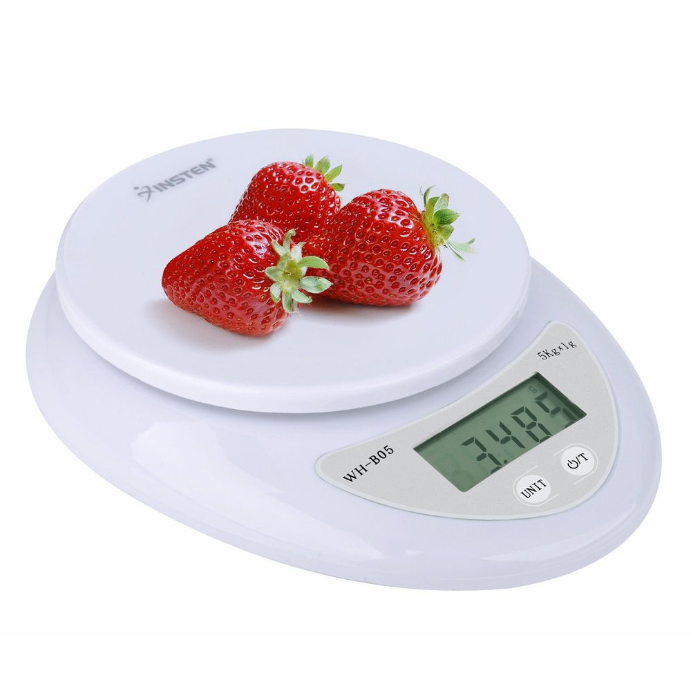 Insten Digital Multifunction Kitchen Food Scale 1g to 5000g 5kg (units of measurements: gram or oz)