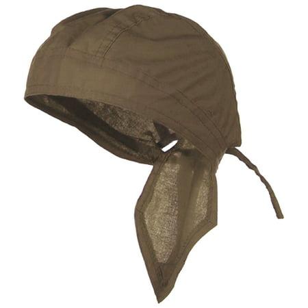 Light Brown Doo Rag Durag Headwrap Cotton Chemo Solid Color Bandana Skull Cap Mens Womens (Cotton Doo Rag)