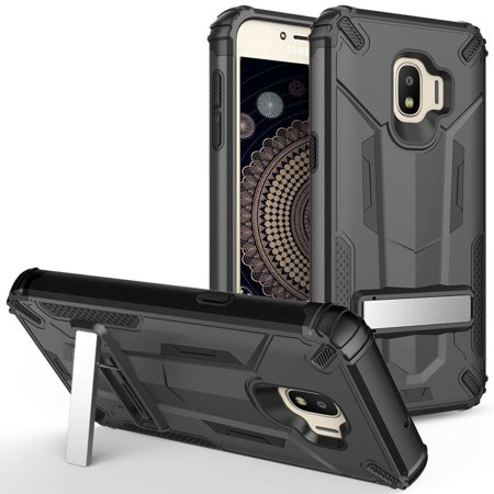 Kaleidio Case For Samsung Galaxy J2 Core J260, J2 Pure, J2 (2019) [Mech Armor] Hybrid Drop Protection [Shockproof] Slim Fit Protective Impact Cover w/ Kickstand w/ Overbrawn Prying Tool (Best Mech Mod Battery 2019)