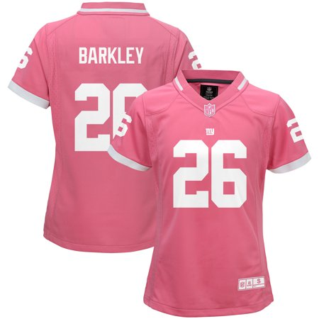 release date 1e2f6 b625e Saquon Barkley New York Giants Girls Youth Bubble Gum Jersey - Pink