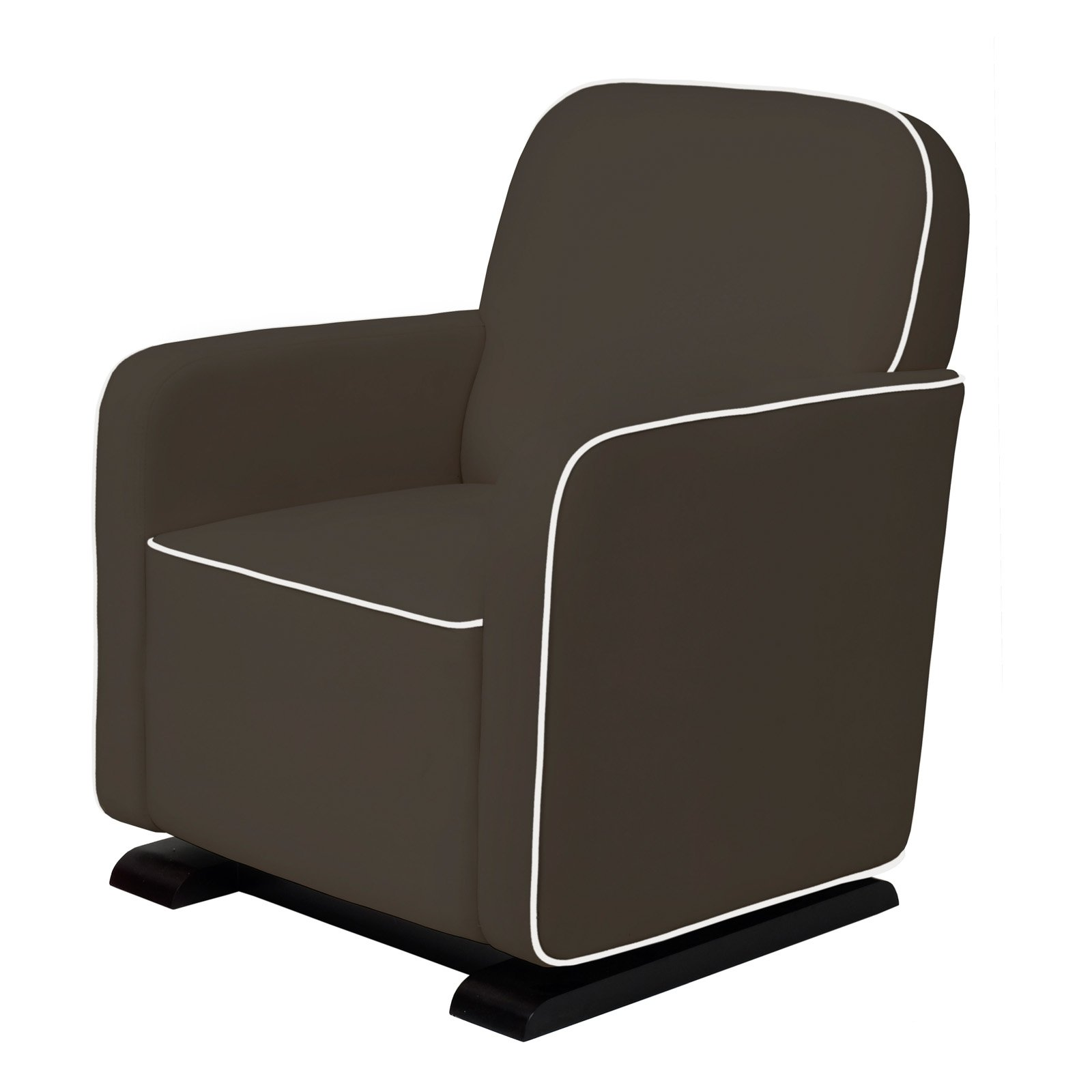 Babyletto Kyoto Glider in Slate with Ecru Piping