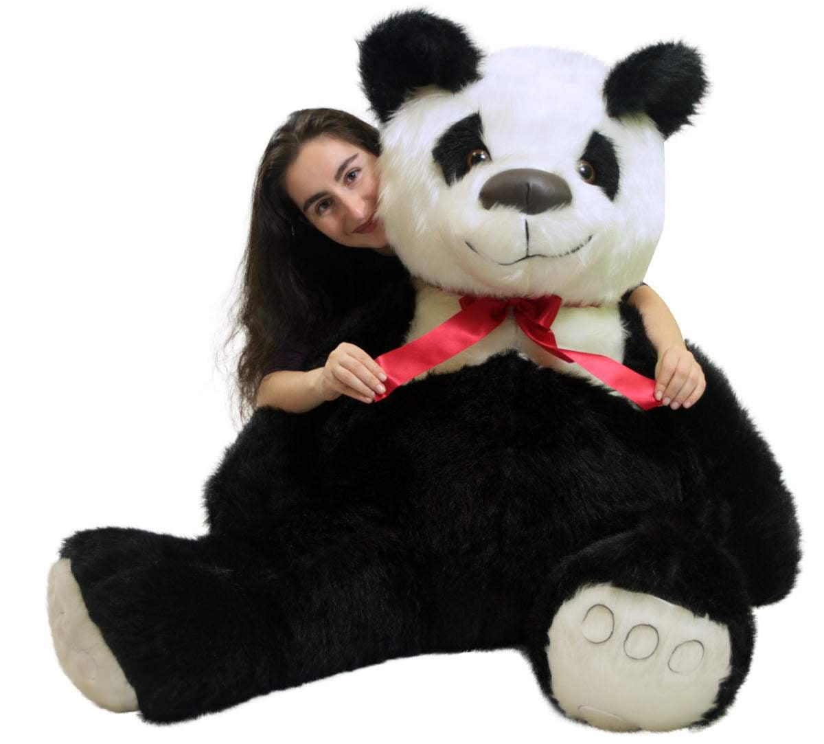 American Made Giant Stuffed Panda Bear 60 Inch Soft 5 Foot Teddybear