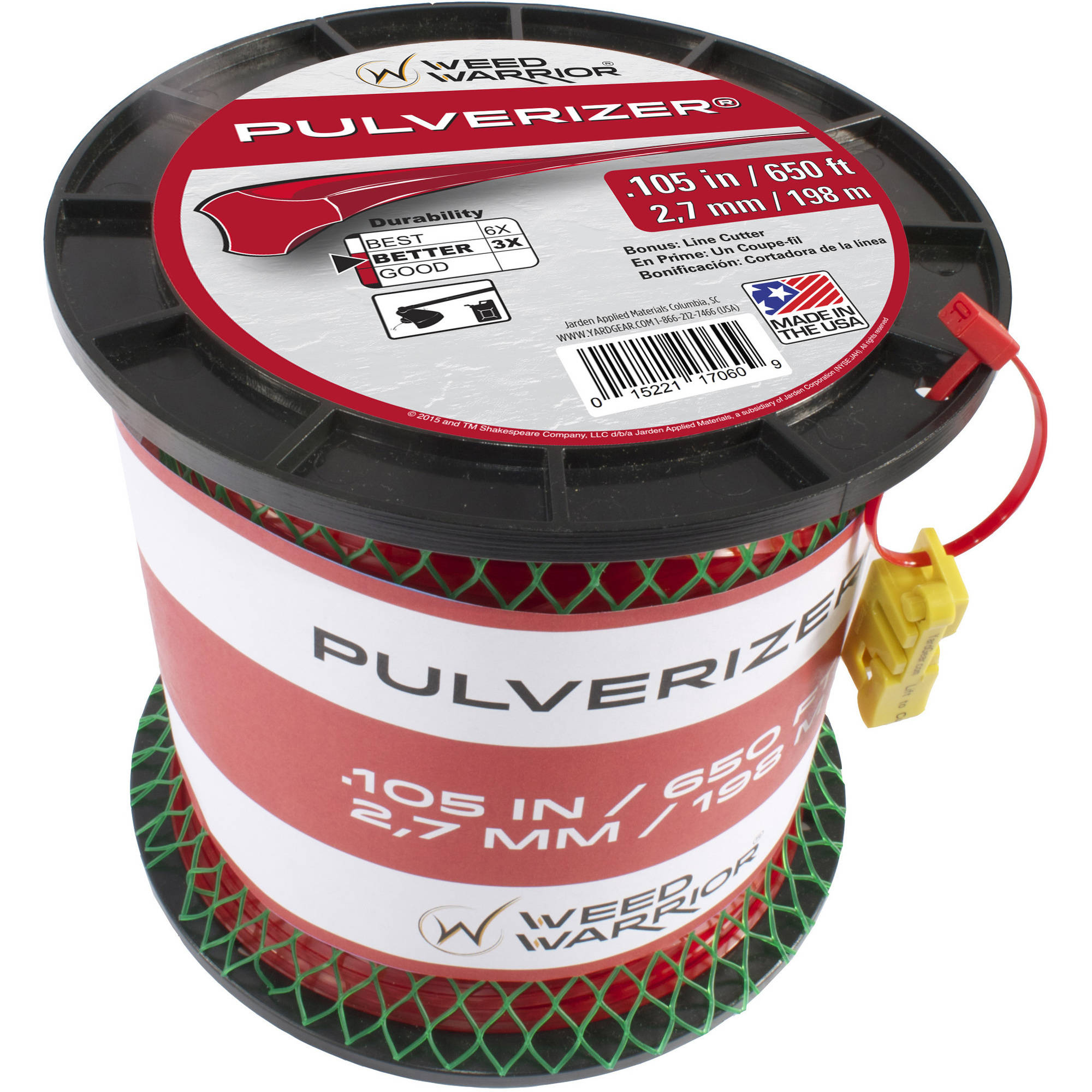 Weed Warrior Replacement Trimmer Line .105, 3 lb Spool