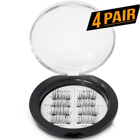 8x Magnetic Eyelashes [No Glue] False Eyelashes Set for Natural Look - 3D Reusable - Double Magnetic (Eyelash Set)
