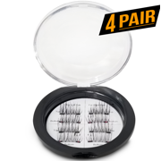 8x Magnetic Eyelashes [No Glue] False Eyelashes Set for Natural Look - 3D Reusable - Double Magnetic Lining