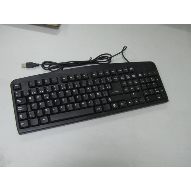 iMicro KB-US919SB Basic Wired USB Spanish Keyboard (Black)