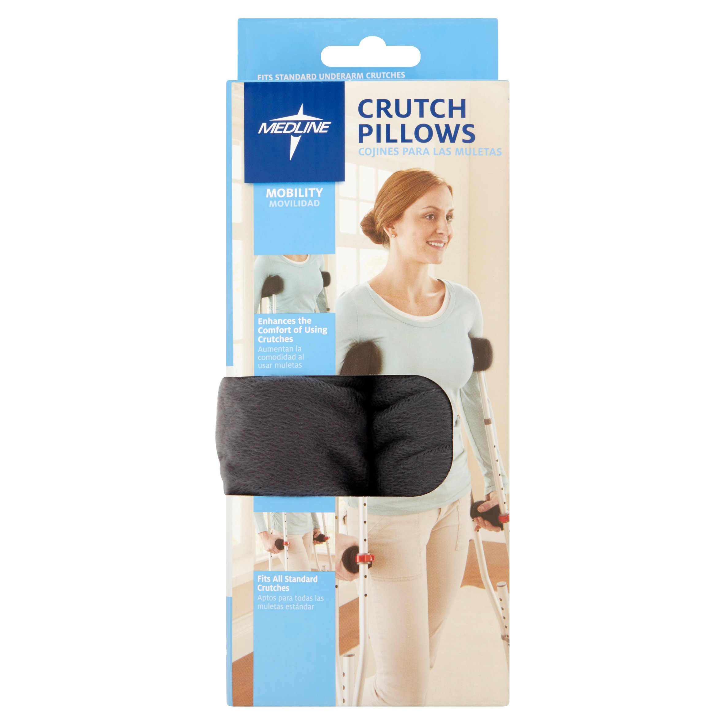 (2 Pack) Medline Crutch Grip and Underarm Pillow