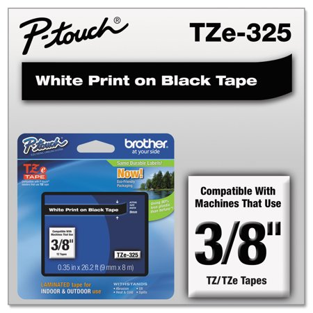 - Brother P-Touch TZe Standard Adhesive Laminated Labeling Tape, 3/8