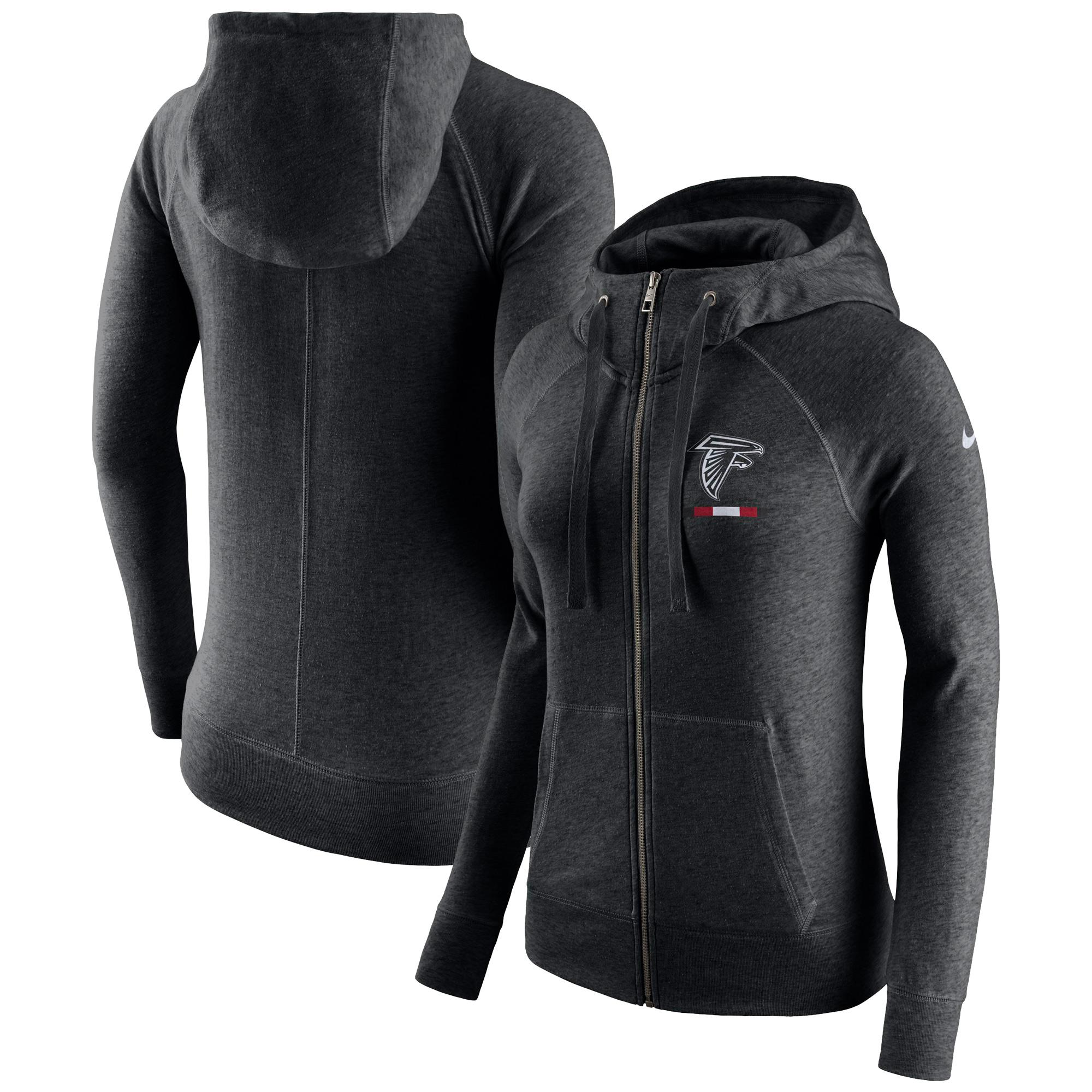 nike women s atlanta falcons gym vintage full-zip black hoodie - Walmart.com 1bcd331aed