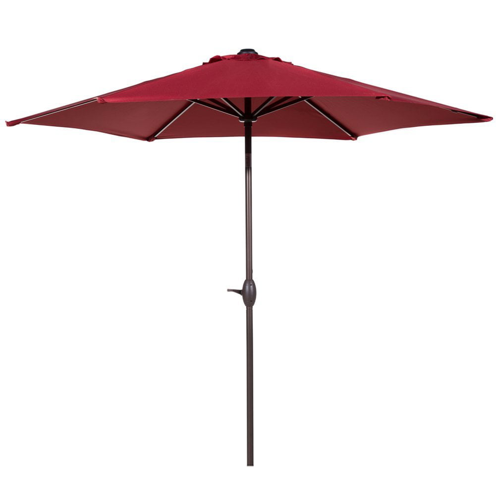 Abba Patio 9-Ft Market Outdoor Aluminum Table Patio Umbrella with Push Button Tilt and Crank, Beige by Abba Patio