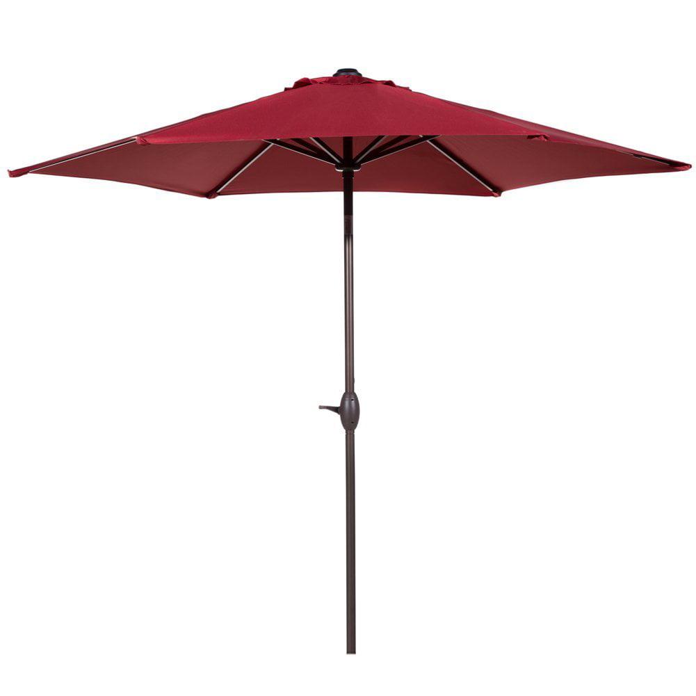 Abba Patio 9-Ft Market Outdoor Aluminum Table Patio Umbrella with Push Button Tilt and... by Patio Umbrellas