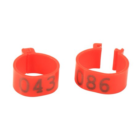 Ejoyous 6Colors 100PCS/Bag 16MM 001-100 Numbered Plastic Poultry Chickens  Ducks Goose Leg Bands Rings, Poultry Leg Bands, Bird Leg Rings   Walmart