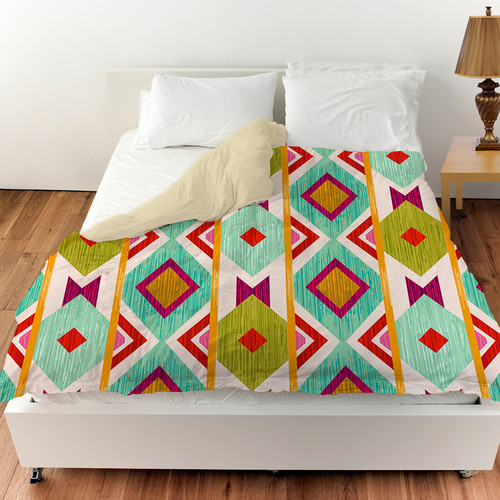 Manual Woodworkers & Weavers Ikat Duvet Cover