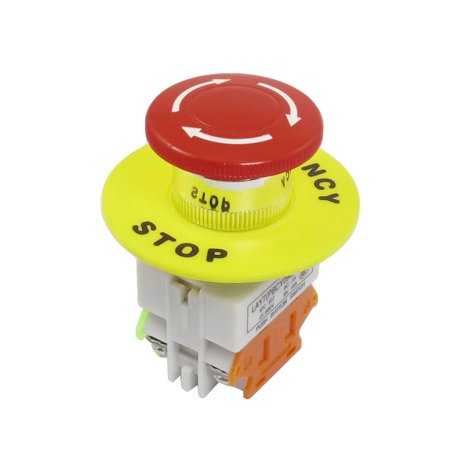 22mm Hole Red Mushroom Latching Push Button Switch NO/NC  660V 10A