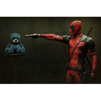 wmg deadpool - movie poster (24 x 36) glossy finish (thick, 8mil): ryan reynolds, morena baccarin - Deadpool Posters