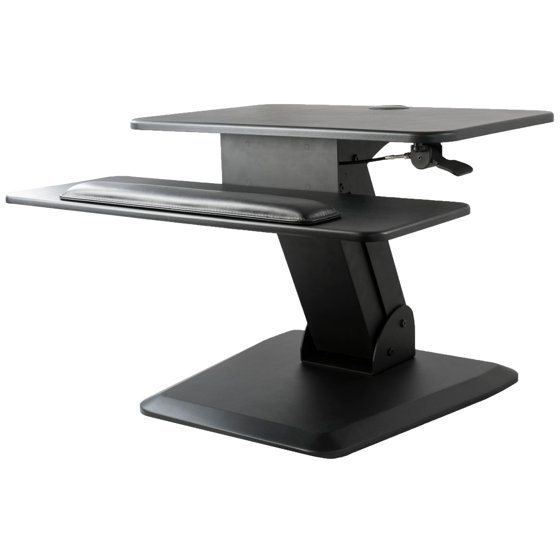 VIVO Height Adjustable Standing Desk Gas Spring Monitor Riser | Tabletop  Sit to Stand Workstation (
