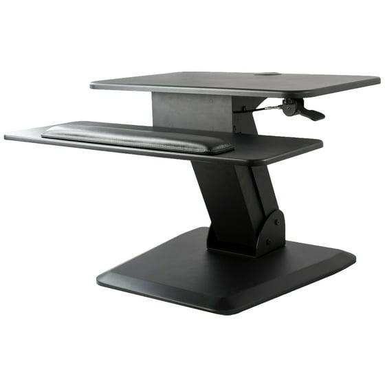 Treadmill Desk Riser: VIVO Height Adjustable Standing Desk Gas Spring Monitor