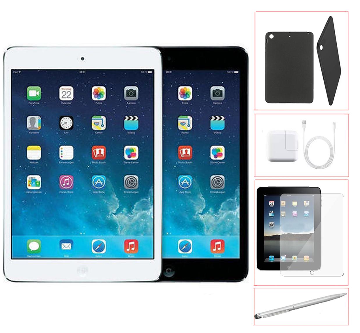 Refurbished Apple iPad Mini 32GB Black -WiFi - Bundle - Case, Rapid Charger, Tempered Glass & Stylus Pen