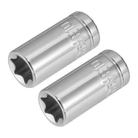 E4 Torx Socket - 2Pcs 1/4-inch Drive E10 Torx Shallow Socket, Cr-V Steel
